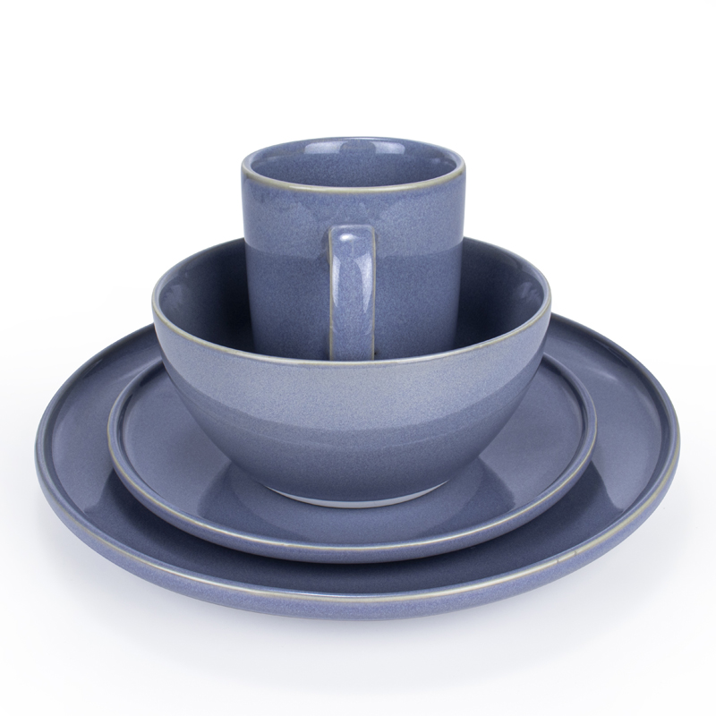 <b>16PCS-Dinnerware Dish Set(Light blue)</b>