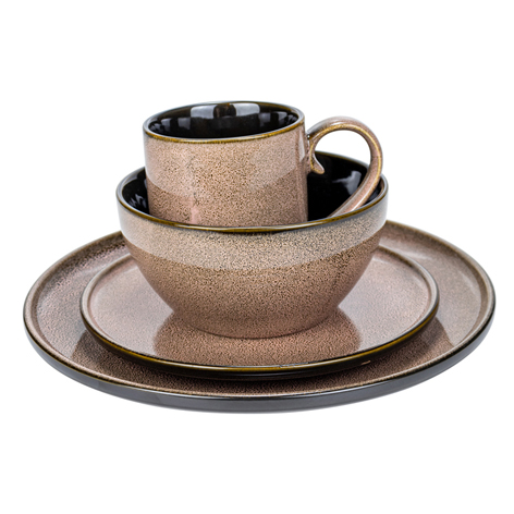 <b>16PCS Stoneware Dinnerware Dish Set</b>